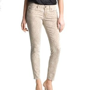 Lucky Brand Paisley Charlie Skinny Pants Jeans